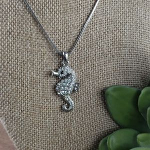 Jewelry - Crystal Seahorse Pendant Necklace